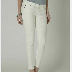 AG Adriano Goldschmied Jeans 29 Ivory Leopard